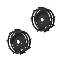 Roti metalice pentru motocultor, cu manicot, O-mac Premium  (1 buc = 1 set)