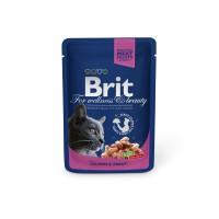 Hrana umeda pentru pisici, Brit, adult, somon si pastrav, 100g