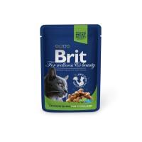 Hrana umeda pentru pisici sterilizate, Brit, adult, carne de pui, 100g