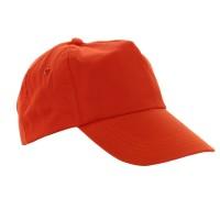 Sapca baseball ES35, portocalie, bumbac