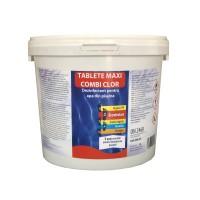 Clor maxi Combi tablete, pentru apa piscina, 5 Kg