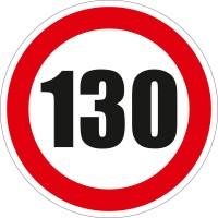 Indicator semnalizare Limitare viteza 130, autocolant, diametru 12 cm