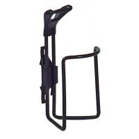 Suport bidon apa, pentru bicicleta, aluminiu, negru