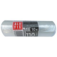 Saci menajeri / gunoi Alufix, transparenti, 110L, 10 buc