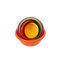 Boluri depozitare pentru alimente, gastro, Agora Plast, plastic, rotunde, multicolore, set 5 bucati