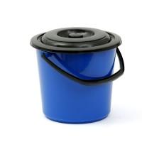 Galeata din polipropilena cu capac, Agora Plast, diverse culori, 8 L