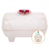 Butoi fibra de sticla, pentru vin Fibromar, cu capac, 150 litri, alb D 50 cm + damigeana fibra de sticla 50 L