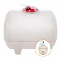 Butoi fibra de sticla, pentru vin Fibromar, cu capac, 200 litri, alb D 60 cm + damigeana, fibra de sticla, 50 L