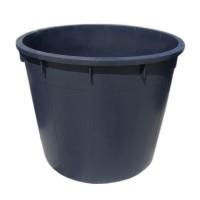 Butoi plastic Plastor, fara capac, 750 litri, negru, D 122 cm
