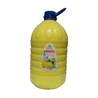 Detergent lichid pentru vase Viantic Pearl, aroma lamaie, 5 l