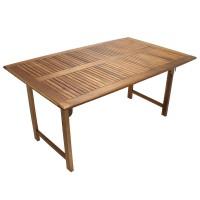 Masa extensibila pentru gradina, lemn acacia, dreptunghiulara, 12 persoane, 160 / 220 x 100 x 74 cm