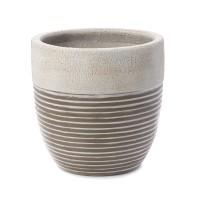 Ghiveci ceramic UD15020/350384, crem, rotund, 30 x 30 cm