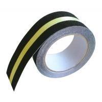 Banda antiderapare cu dunga fosforescenta, latime 50 mm, 5 m