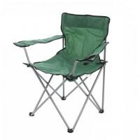 Scaun camping pliant D10107S, structura metalica, verde, 52 x 52 x 80 cm