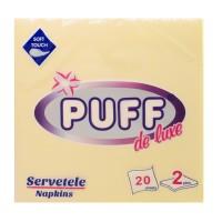 Servetele de masa Puff De Luxe, crem, 2 straturi, 38 x 38 cm, 20 buc / pachet