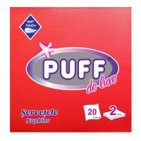 Servetele de masa Puff De Luxe, rosii, 2 straturi, 38 x 38 cm, 20 buc / pachet