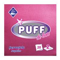 Servetele de masa Puff De Luxe, vinaccia, 2 straturi, 38 x 38 cm, 20 buc / pachet