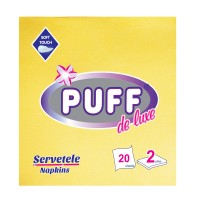 Servetele de masa Puff De Luxe, galbene, 2 straturi, 38 x 38 cm, 20 buc / pachet