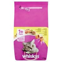 Hrana uscata pentru pisici, Whiskas, adult, carne de pui, 1.4kg