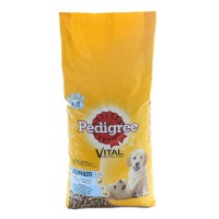 Hrana uscata pentru caini de talie medie, Pedigree Vital Protection junior, carne de pui si orez, 15kg