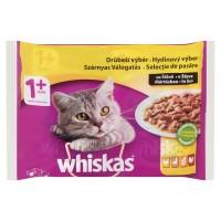 Hrana umeda pisici Whiskas, adult, selectii de pasare, 4 x 100g