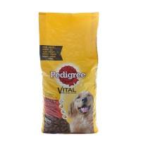 Hrana uscata pentru caini, Pedigree Vital Protection adult, carne de vita si pasare, 15kg