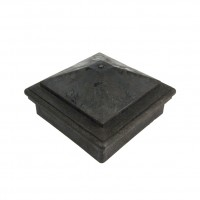 Capac piramidal stalp WPC 90 x 90 mm G, gri
