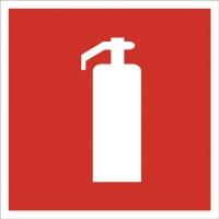Indicator stingator de incendiu Sun Prints, autocolant, 15 x 15 cm