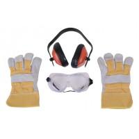 Kit pentru protectie tuns gazon, Prorun 254, ochelari + casti + manusi