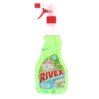 Solutie geamuri Rivex, Spring Fresh, cu pulverizator, 750 ml