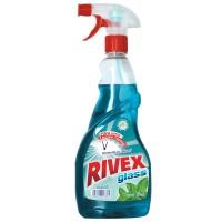 Solutie geamuri Rivex, menta, cu pulverizator, 750 ml
