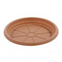 Farfurie ghiveci Dalia, plastic, crem, D 13.5 cm
