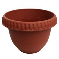Ghiveci din plastic, Bungaloo, rotund, maro, D 50 cm