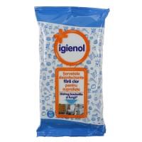 Servetele umede dezinfectante Igienol, fara clor, pentru suprafete, 40 buc