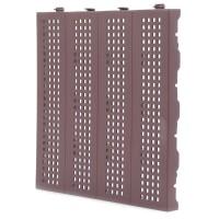 Placa podea cu drenaj, PVC, exterior, maro, 400 x 33 x 400 mm