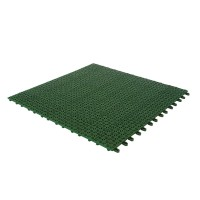 Placa podea cu drenaj, PVC, exterior, verde, 560 x 560 x 9 mm