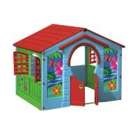 Casuta copii Farm, pentru gradina, din plastic, interior / exterior, 130 x 111 x 115 cm