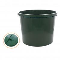 Butoi / cada plastic Dolplast, cu capac, 500 litri, verde D 103 cm