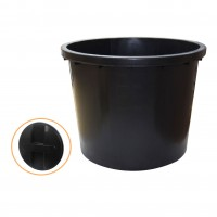Butoi plastic Dolplast, cu capac, 500 litri, negru D 103 cm