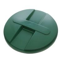 Capac pentru butoi 500 litri Dolplast, polietilena, verde, D 104.5 cm