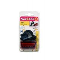Lampa spate pentru bicicleta Bimbo Bike, 5 leduri rosii, lumina continua