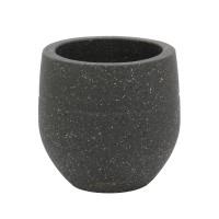 Ghiveci ceramic LC15.47.40.3, gri, rotund, 40 x 34 cm