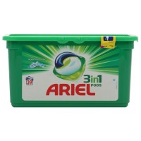 Detergent de rufe, capsule, Ariel 3 in 1 Pods Mountain Spring, 39 capsule