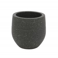 Ghiveci ceramic LC15.47.40.3, gri, rotund,  28 x 27 cm