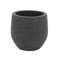 Ghiveci ceramic LC15.47.40.3, gri, rotund, 20 x 18 cm