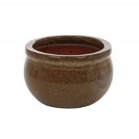 Ghiveci ceramic 21237 C, rotund, 25 x 15 cm