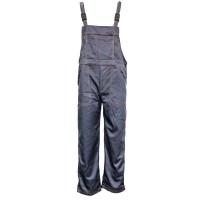 Pantaloni salopeta pentru protectie, bumbac + tercot, antracit, marimea 50