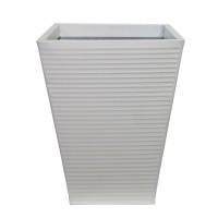 Ghiveci metalic DHH004W, alb, patrat, 31 x 31 x 41 cm