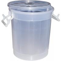 Butoi plastic Agora Plast, cu capac, 30 litri, transparent D 36 cm