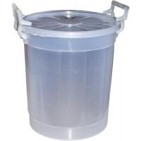 Butoi plastic Agora Plast, cu capac, 50 litri, transparent D 43 cm
